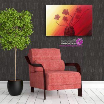 تابلو نقاشی سبد گل