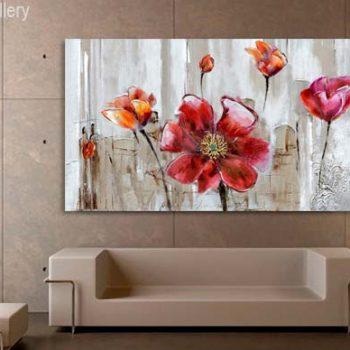 تابلو نقاشی گل برای منزل،نقاشی،تابلو نقاشی متناسب با دکوراسیون منزل،چیدمان منزل با تابلو نقاشی،دکوراسیون داخلی
