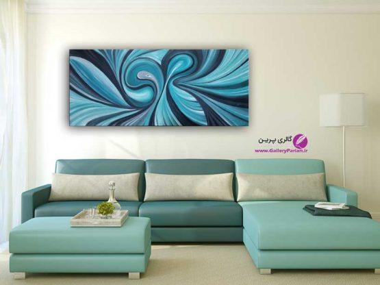 تابلو نقاشی آبستره آبی