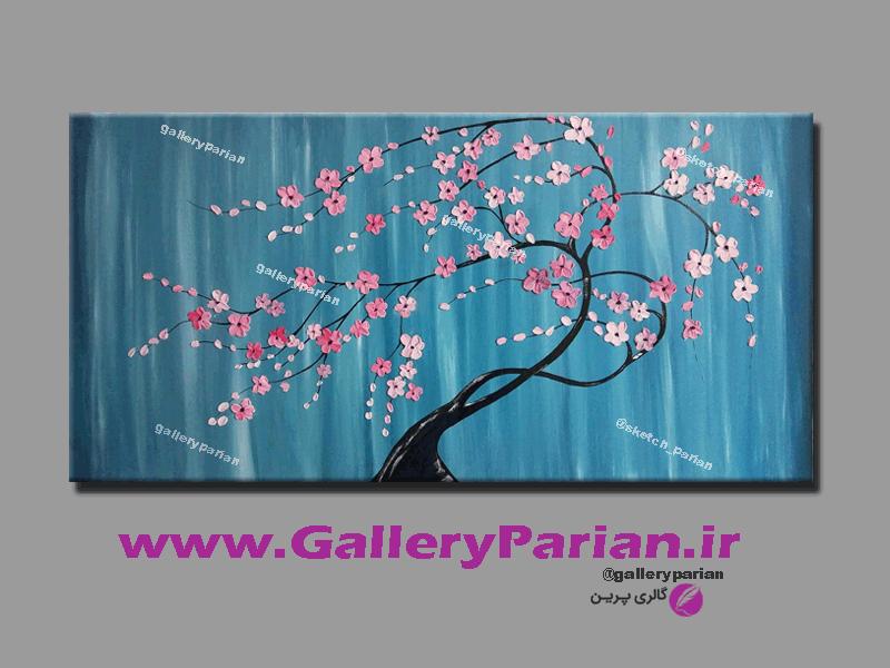 تابلو نقاشی شکوفه های برجسته