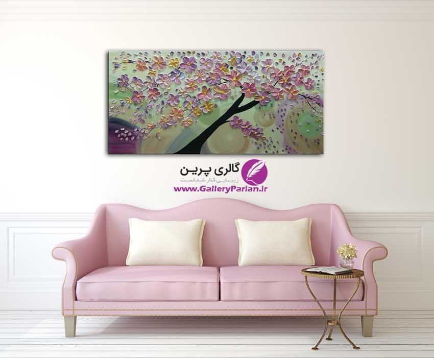 تابلو نقاشی گل برحسته
