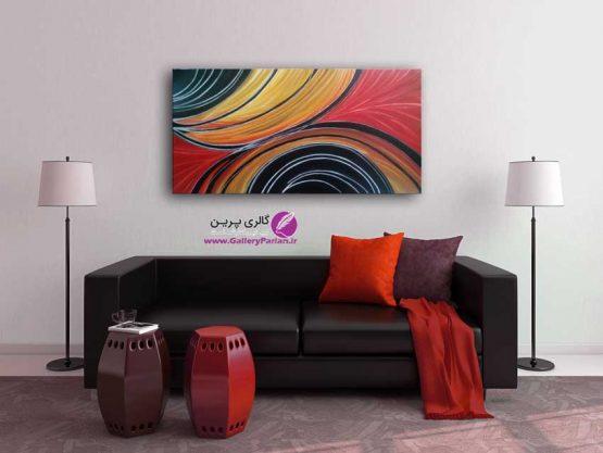 تابلو نقاشی مدرن، نقاشی آبستره قرمز