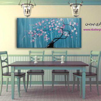 تابلو نقاشی شکوفه های بهاری