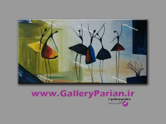 تابلو نقاشی مدرن رقص زنان سیاه پوست،نقاشی زنان سیاه پوست، تابلو نقاشی مدرن،نقاشی رقص