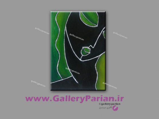 تابلو نقاشی چهره دختر،نقاشی دخر،تابلو نقاشی دختر سیاه پوست