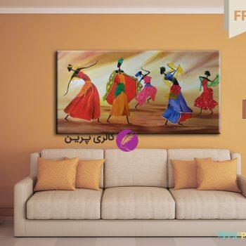رقص زنان سیاه پوست،تابلو نقاشی مدرن،تابلو نقاشی رقص زنان،نقاشی افریقایی