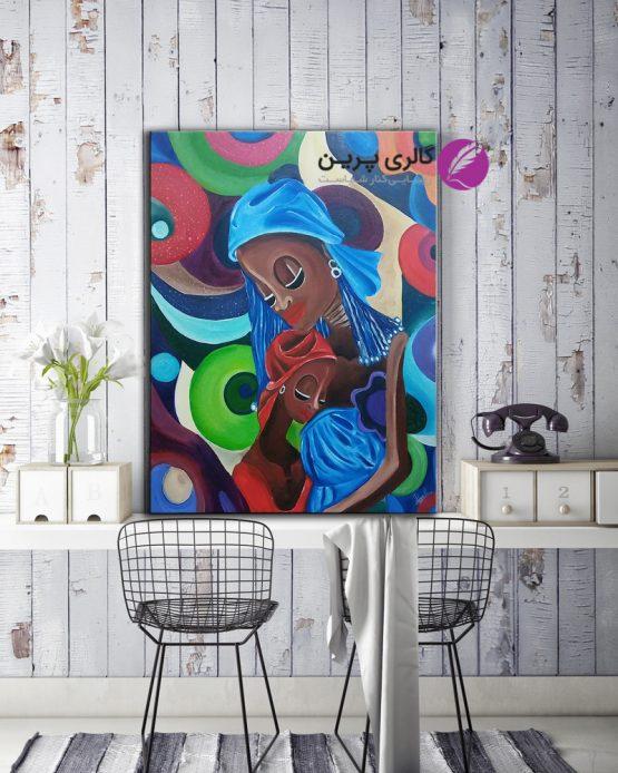 تابلو نقاشی مدرن،نقاشی مدرن،کوبیسم،تابلو نقاشی مادر