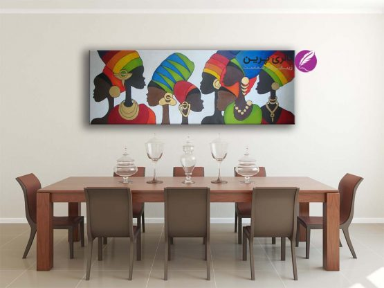 تابلو نقاشی زنان سیاه پوست ، تابلو رنگ روغن،نقاشی مدرن،تابلو نقاشی مدرن،نقاشی دکوراتیو