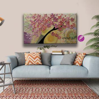 تابلو نقاشی گل برجسته،نقاشی مدرن،نقاشی گل،تابلو نقاشی گل مدرن،فروشگاه تابلو نقاشی،نقاشی برجسته،تابلو برجسته،تابلو قاشی برجسته،تابلو نقاشی گل صورتی