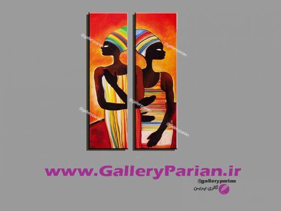 نقاشی زنان سیاه پوست،تابلو مصری،نقاشی زنان مصری