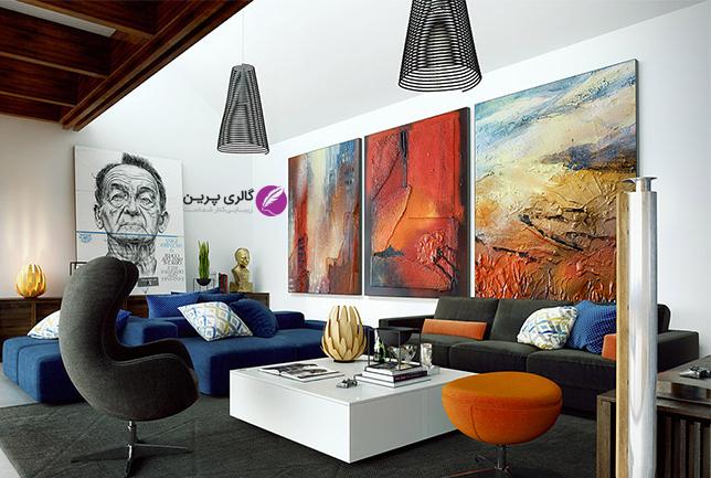 دکوراسیون منزل با عناصر تزئینی و تابلو