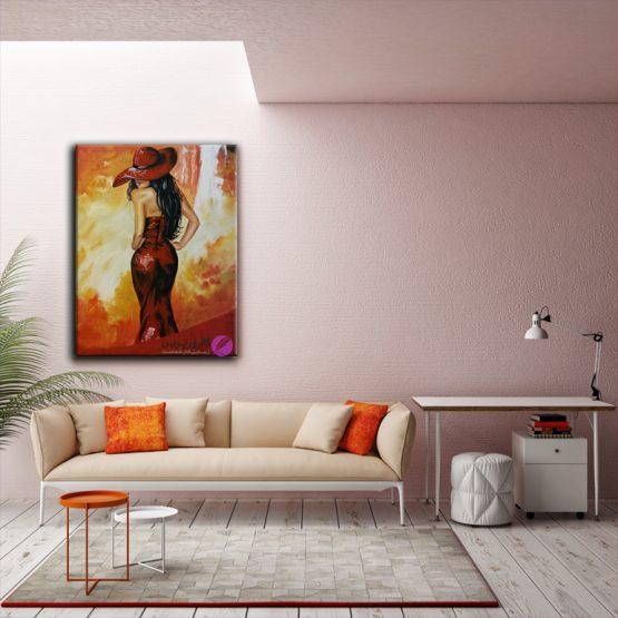 نقاشی مدرن،نقاشی دختر،نقاشی مدرن دختر،تابلو نقاشی مدرن،فروش تابلو نقاشی رنگ و روغن