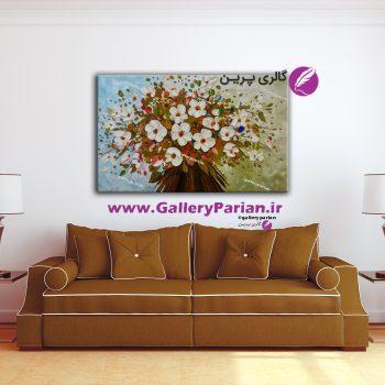 تابلو نقاشی سبد گل،تابلو نقاشی گل کلاسیک،نقاشی رنگ و روغن،تابلو نقاشی گل و گلدان،نقاشی گل برجسته