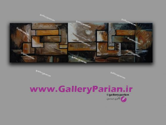 تابلو نقاشی مدرن،نقاشی برجسته،نقاشی آجری رنگ،تابلو نقاشی مشکی و آجری و آبی،نقاشی رنگ و روغن،فروش تابلو نقاشی