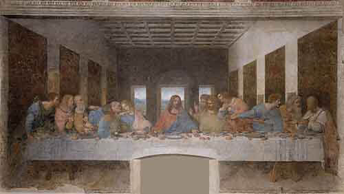 تابلو نقاشی شام آخر،اثر لئوناردو داوینچی،نقاشی داوینچی،نقاشی معروف،نقاشان معروف