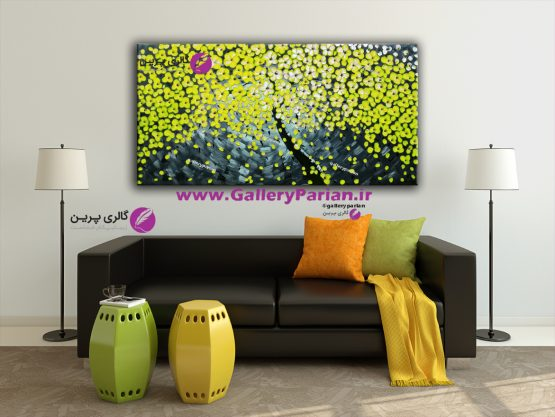 تابلو نقاشی زرد،تابلو نقاشی گل زرد،تابلو رنگ زرد،تابلو نقاشی گل برجسته،نقاشی برجسته،فروش تابلو نقاشی
