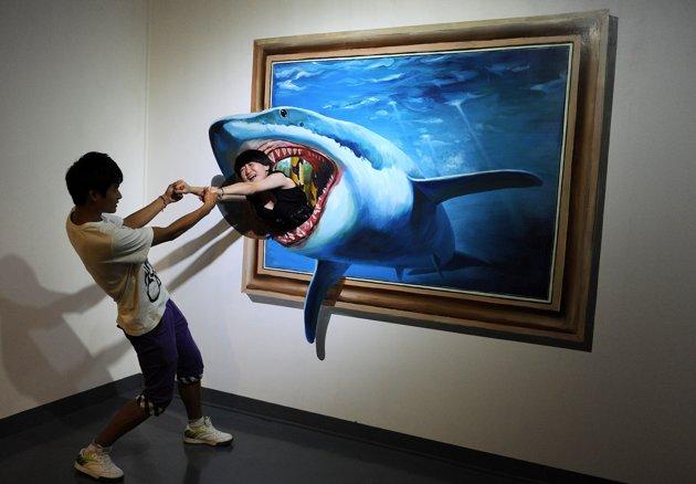 نقاشی سه بعدی،نقاشی 3d،نقاشی های جدید،کشیدن نقاشی سه بعدی،تابلوی سه بعدی،نقاشی سه بعدی طبیعت،نقاشی پلنگ،نقاشی کوسه،نقاشی 3 بعدی ماهی