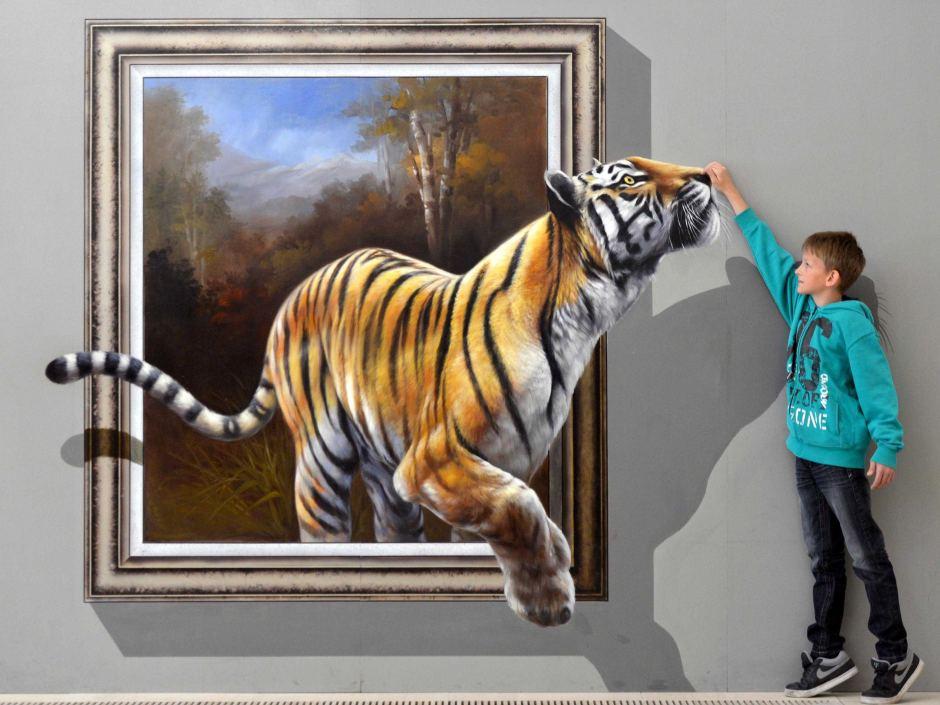 نقاشی سه بعدی،نقاشی 3d،نقاشی های جدید،کشیدن نقاشی سه بعدی،تابلوی سه بعدی،نقاشی سه بعدی طبیعت،نقاشی پلنگ