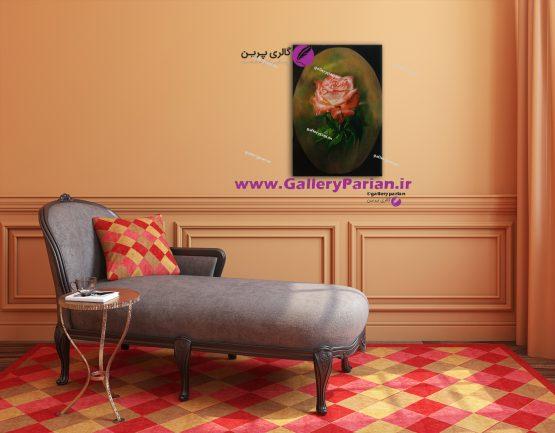 تابلو نقاشی گل کلاسیک،نقاشی کلاسیک،نقاشی رنگ روعن،نقاشی گل رز،نقاشی گل سرخ،تابلو نقاشی گل قرمز،سبد گل،تابلو نقاشی سبد گل