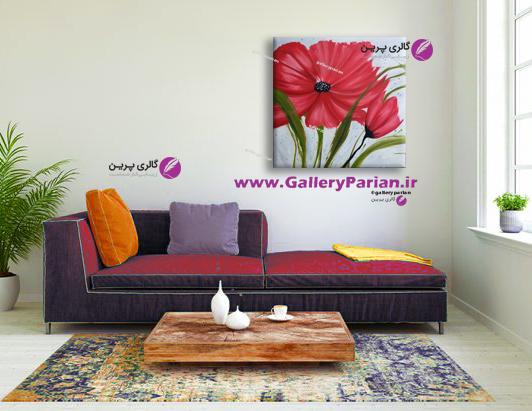 تابلو نقاشی گل قرمز،نقاشی گل،تابلو نقاشی مدرن،نقاشی مدرن،نقاشی رنگ روغن،سفارش تابلو نقاشی،فروش تابلو نقاشی،نقاشی دکوراتیو
