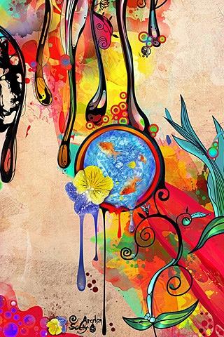 تصاویر زمینه نقاشی برای موبایل