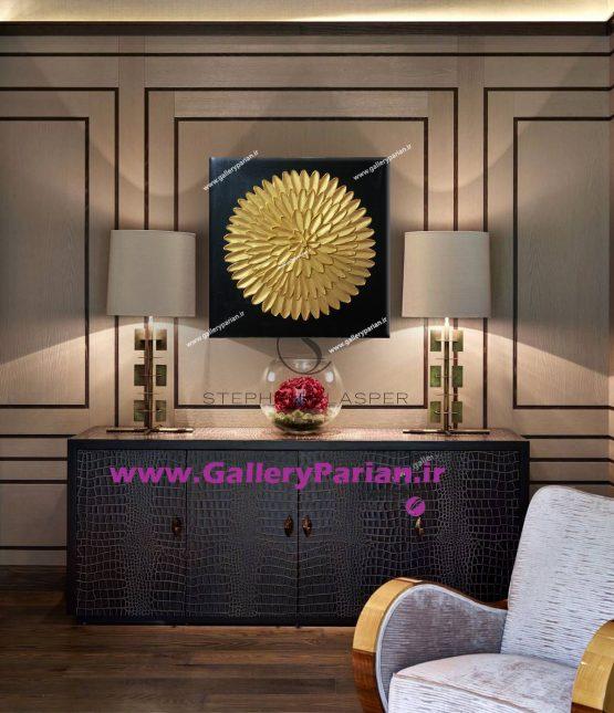 تابلو مدرن،تابلو دکوراتیو،تابلو طلایی،تابلو ورق طلا،نقاشی کلاسیک،تابلو برجسته کلاسیک،تابلو طلا