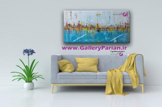 تابلو نقاشی انتزاعی،نقاشی مدرن،نقاشی زرد،نقاشی برای اداره،تابلو دکوراتیو،نقاشی مدرن،فروش تابلو نقاشی